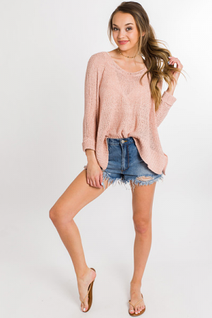 Blushing Babe Sweater