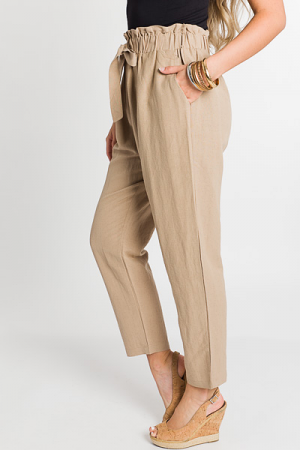 Paper Bag Pants, Natural