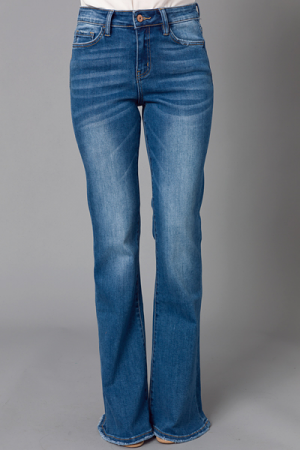 Allison Flare Jeans, Medium Wash