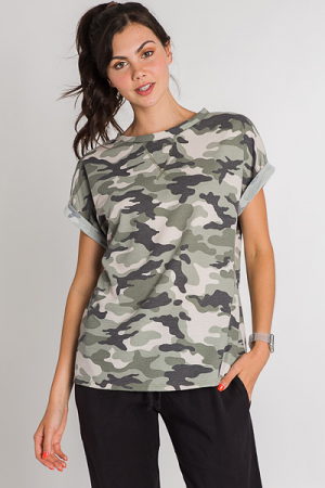 Army Waffle Knit Tee