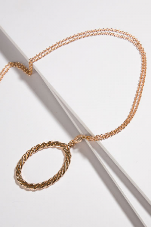 Oval Rope Necklace