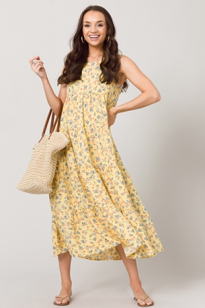 Chandler Floral Maxi, Yellow