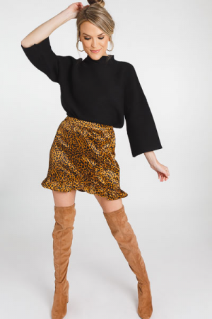 Sasha Cheetah Skirt