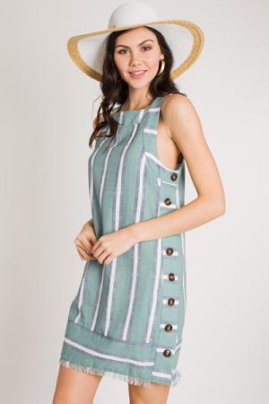 Button Side Sun Dress