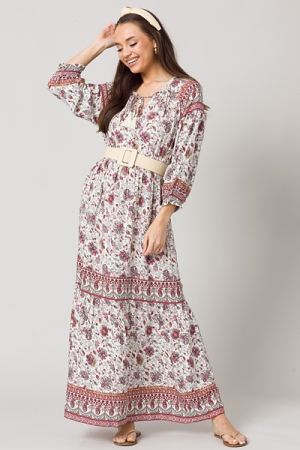 Laurie Paisley Maxi, Off White