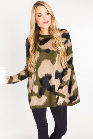 Sporty Spice Camo Sweater