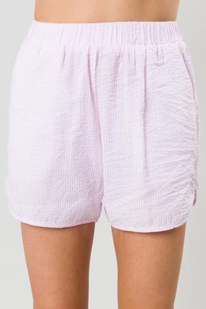 Seersucker Shorts, Pink