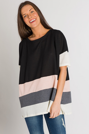 Peach Pop Striped Thermal