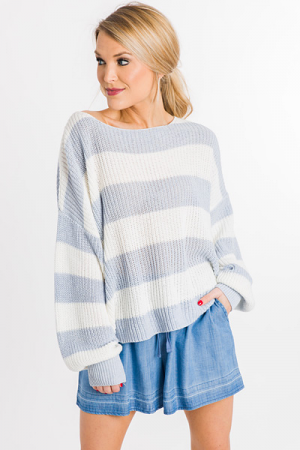 Best Striped Sweater, Blue