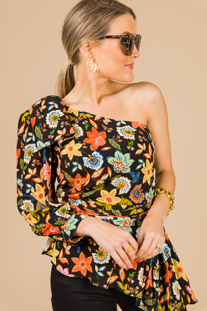 Floral Single Sleeve Top