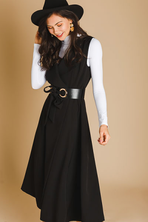 Belted Amal Dress