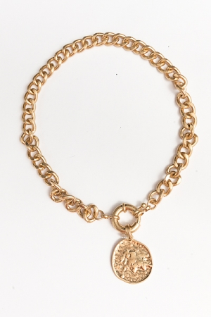 Antique Gold Coin Necklace