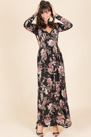 Madlyn Maxi, Black Floral