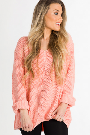 Spring Breaker Sweater, Peach