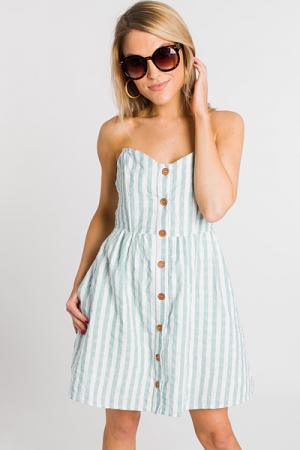 Midtown Dress, Sea Green