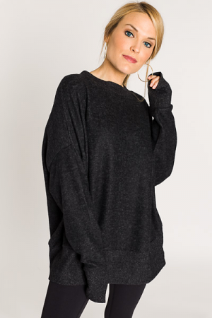 The Perfect Pullover, Charcoal