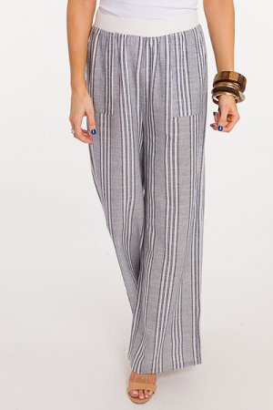 Stretch Waist Stripe Pants