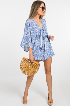 Chinoiserie Knit Romper