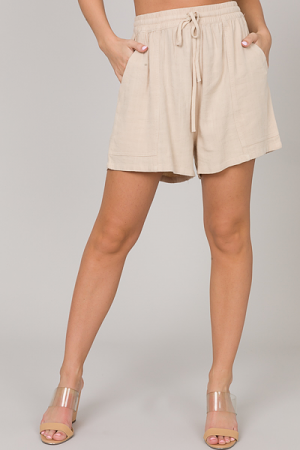 Tanner Linen Shorts, Oatmeal