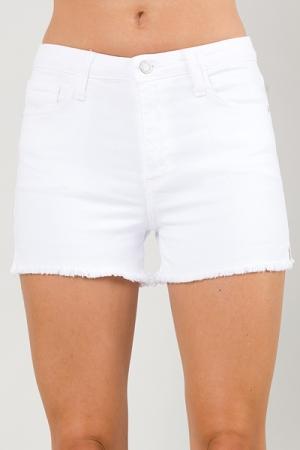 Cut Off Shorts, White