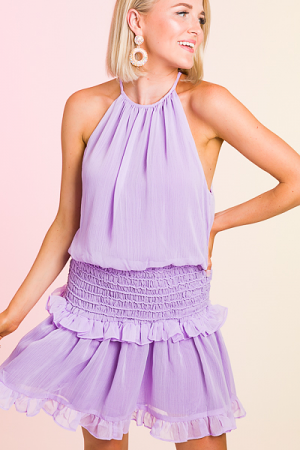 Suzie Smocked Dress, Lavender