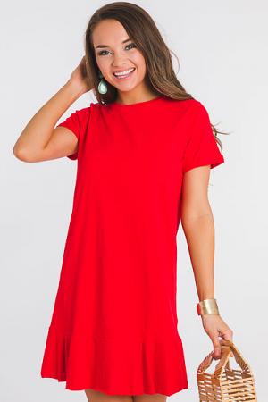 Hope T-Shirt Dress, Red