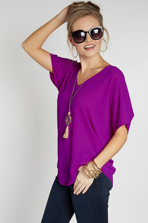 Lora Top, Purple