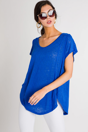 Rounded Swing Tee, Royal