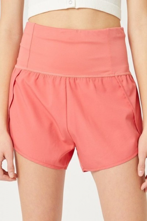 Active High Rise Shorts, Flamingo