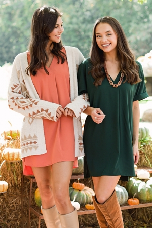 Picture Perfect V Dress, Green