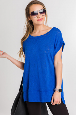 Just Relax Sweater Tee, Royal
