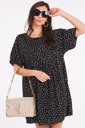 Small Spots Babydoll, Black