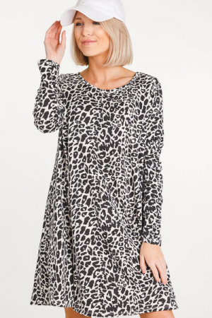 Cheetah Sister Knit Dress