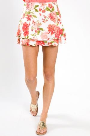 Hidden Shorts Skirt, Floral