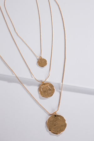 First Lady Layered Disc Necklace