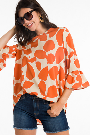 Beatrice Tunic, Orange Orchid