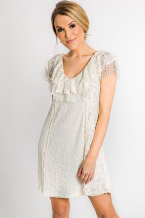 Ivory Ella Lace Dress