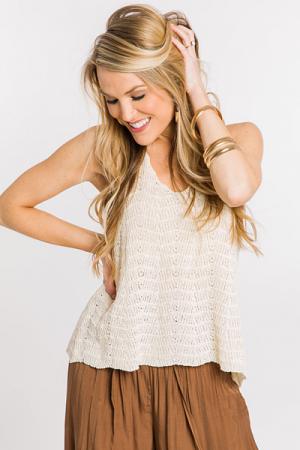 Summer Sweater Tank, Ivory