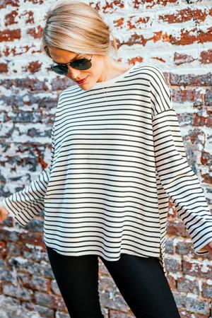 Creamy Quality Stripe Top