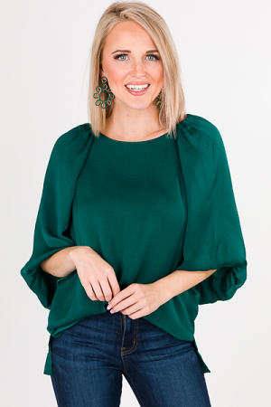 Puff of the Party Blouse, Green