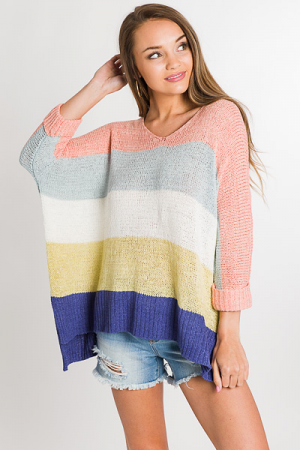 Sorbet Striped Sweater