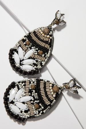 Fiji Bead Earring, Black
