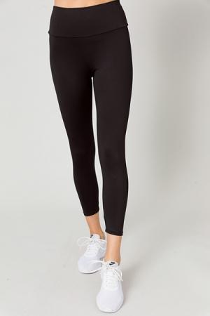 Smooth Crop Legging, Black