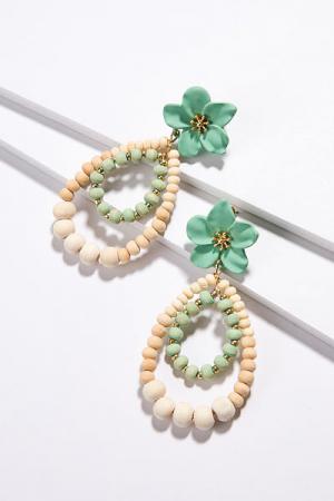 Tahiti Flower Earrings, Mint