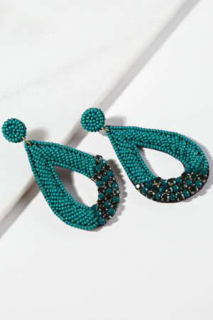 Bobi Teardrop Earring, Green