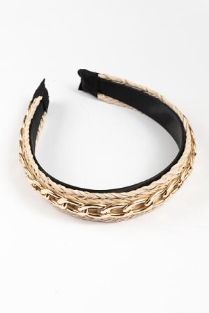 Chain Link Headband, Natural
