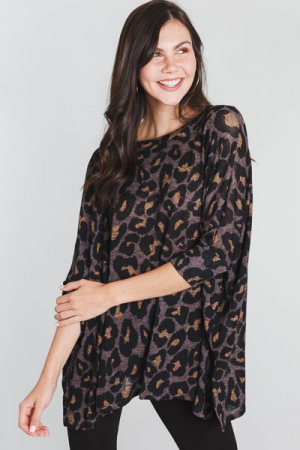 So Slouchy Cheetah Tunic