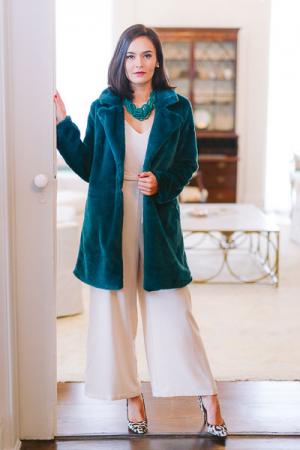 Long Emerald Fur Coat