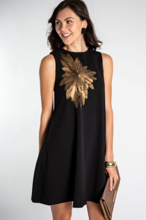 Bronze Corsage Dress