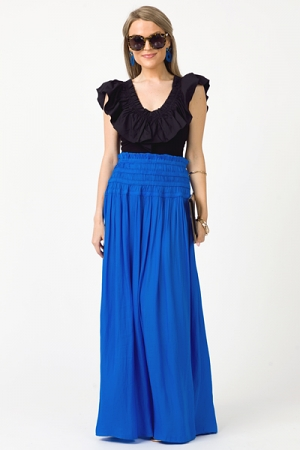 Royal Smooth Maxi Skirt